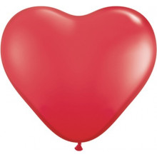 "Balloon heart 6"" - red"