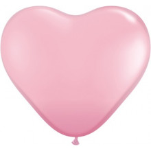 "Balloon heart 6"" - pink"