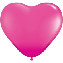 "Balloon heart 6"" - wild berry"