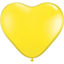 "Balloon heart 6"" - yellow"