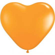 "Balloon heart 6"" - orange"