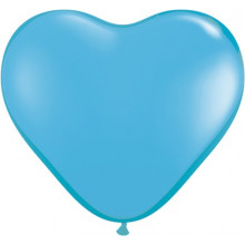 "Balloon heart 6"" - pale blue"
