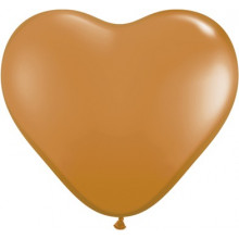 "Balloon heart 6"" - mocha brown"