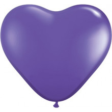 "Balloon heart 6"" - purple..."