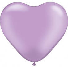 "Balloon heart 6"" - pearl..."