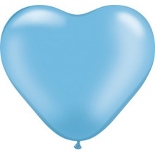"Balloon heart 6"" - pearl azure"