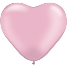 "Balloon heart 6"" - pearl pink"