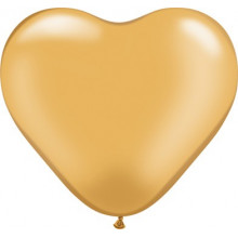 "Balloon heart 6"" - gold"