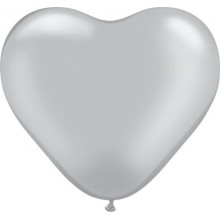 "Balloon heart 6"" - silver"