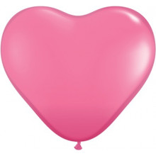 Balloon heart 3' - rose