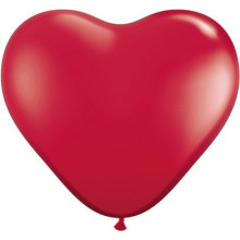 Balloon heart 3' - ruby red