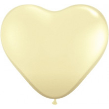 Balloon heart 3' - ivory silk