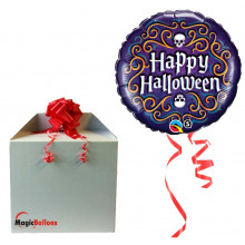Halloween Skeleton Filigree - folija balon v paketu
