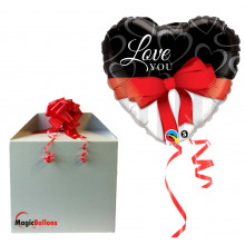 Love you red ribbon - folija balon v paketu