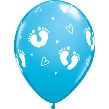 Balon Baby Footprints & Hearts