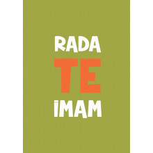 Greeting card Rada te imam