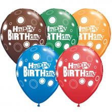 Balon Birthday Bold Dots