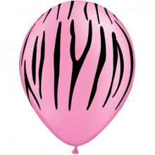 Balon Zebra stripes - neon pink