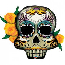 Day of the dead skulls - folija balon v paketu