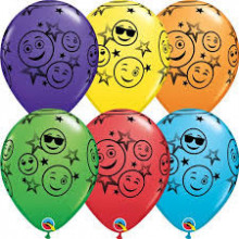 Balon Smiley Stars