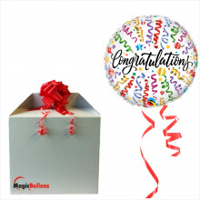 Congratulations streamers - foil balloon in a package