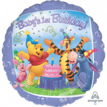 Pooh and Friends 1st Birthday - foil balloon