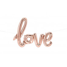 Love Foil Balloon - rose gold
