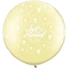 Just Married Flowers-A-Round