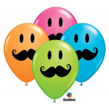 Balon Smile Face Mustache